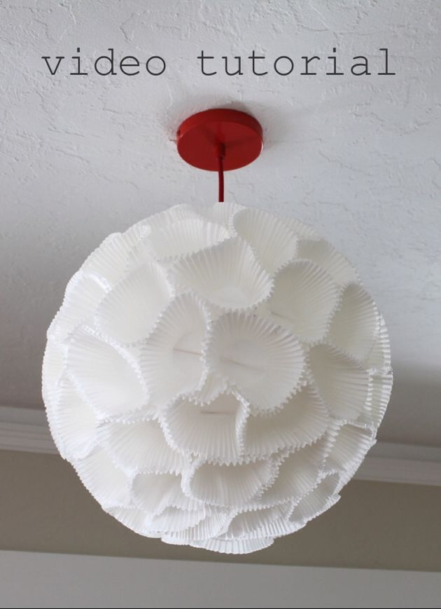 How to make a paper lantern using cupcake liners video for Paper lantern tutorial