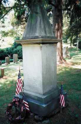 """General Mad Anthony Wayne's Radnor Grave  Image from American Revolution Organization  The colorful career of Revolutionary and Indian War General """"Mad"""" Anthony Wayne came to end at Fort Presque Isle on December 15, 1796 at the age of 51. He was buried underneath the Erie Blockhouse per his request at the foot of the flagpole."""