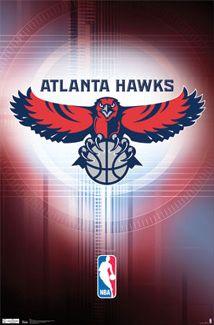 Atlanta Hawks Official NBA Basketball Team Logo Poster - Costacos Sports