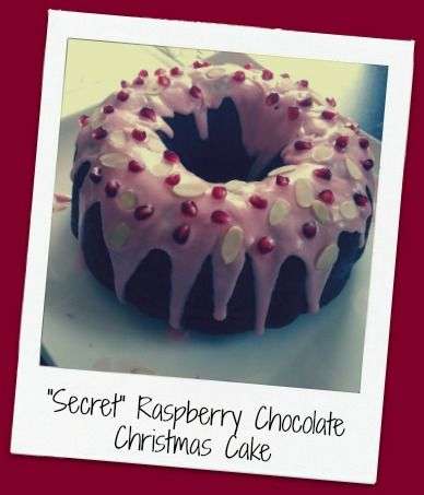 """Secret"" Raspberry Chocolate Christmas Cake - You and Baby"