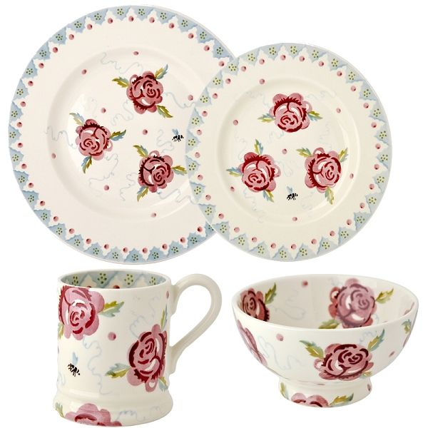 Rose and Bee Place Setting