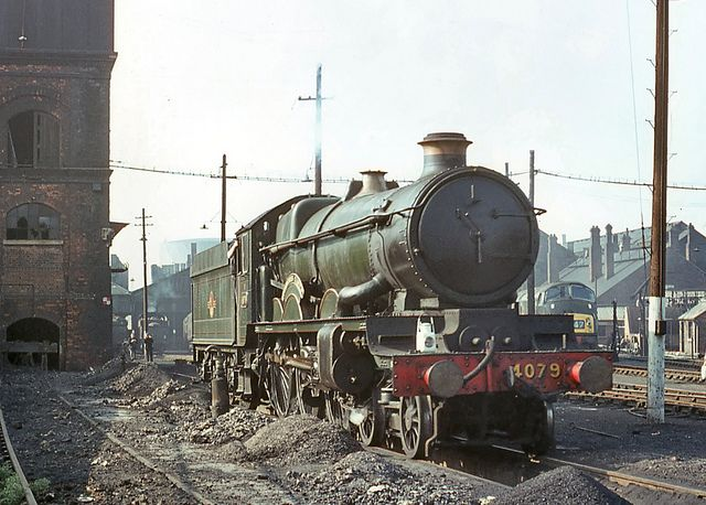 4079 'Pendennis Castle'. Swindon shed 26 April 1964