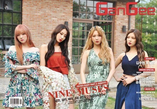9muses gangee, 9muses photoshoot,  9muses kpop profile