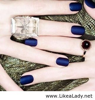 Matte Navy Blue- so in love with this color