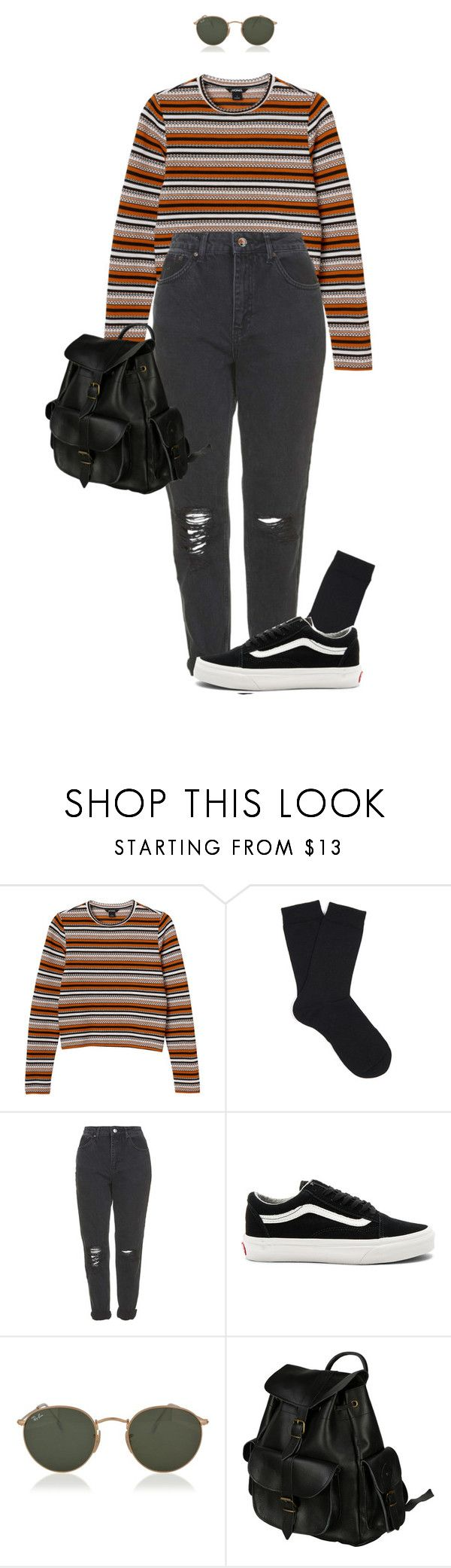 """Nothing could ever bring me down"" by pageslearntothink on Polyvore featuring Monki, Falke, Topshop, Vans, Ray-Ban and VIPARO"
