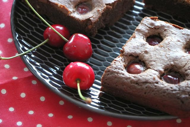 Brownie choco-cerise