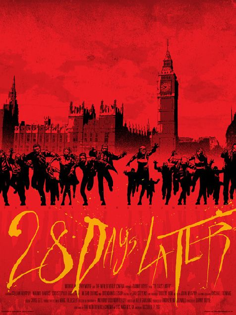 28 days later: Movie Posters, Film, Horror Movies, Favorite Movies, 28 Days, World Poster, Zombies