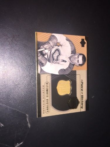 2000-01 UD Maurice Richard A Piece of History #500 -GH GAME USED STICK RARE!!! please retweet