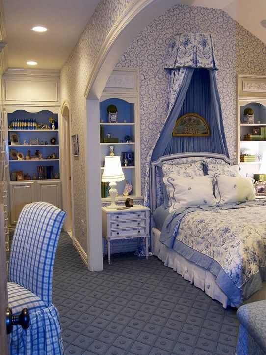 74 best french country fabrics images on pinterest for French blue bedroom design