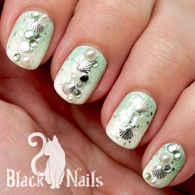 New Seashell Nail Design