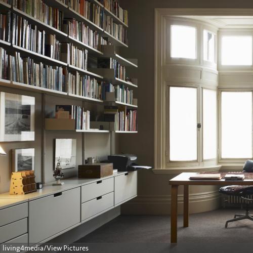 27 besten Arbeitszimmer Bilder auf Pinterest Arbeitszimmer - hausbibliothek regalwand im wohnzimmer