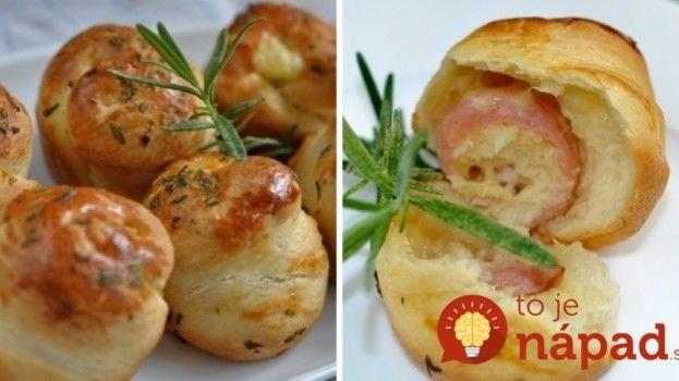 Štartovacie cesnakové pagáčiky plnené šunkou a syrom!