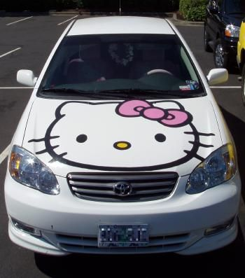 My brother is actually going to do this for me. He's going to school for autobody. Hello kitty hood.