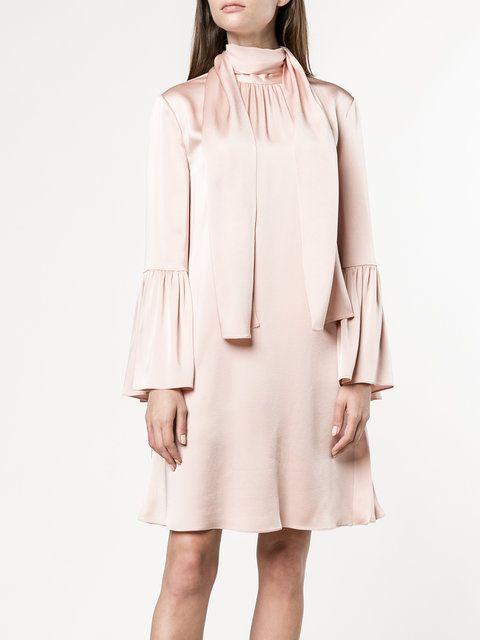 Fendi scarf neck mini dress