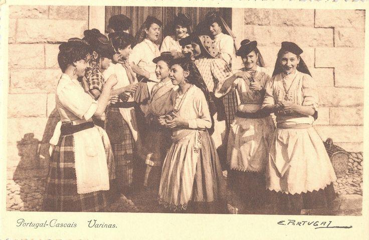 Postais de profissões antigas - Varinas Cascais 1911