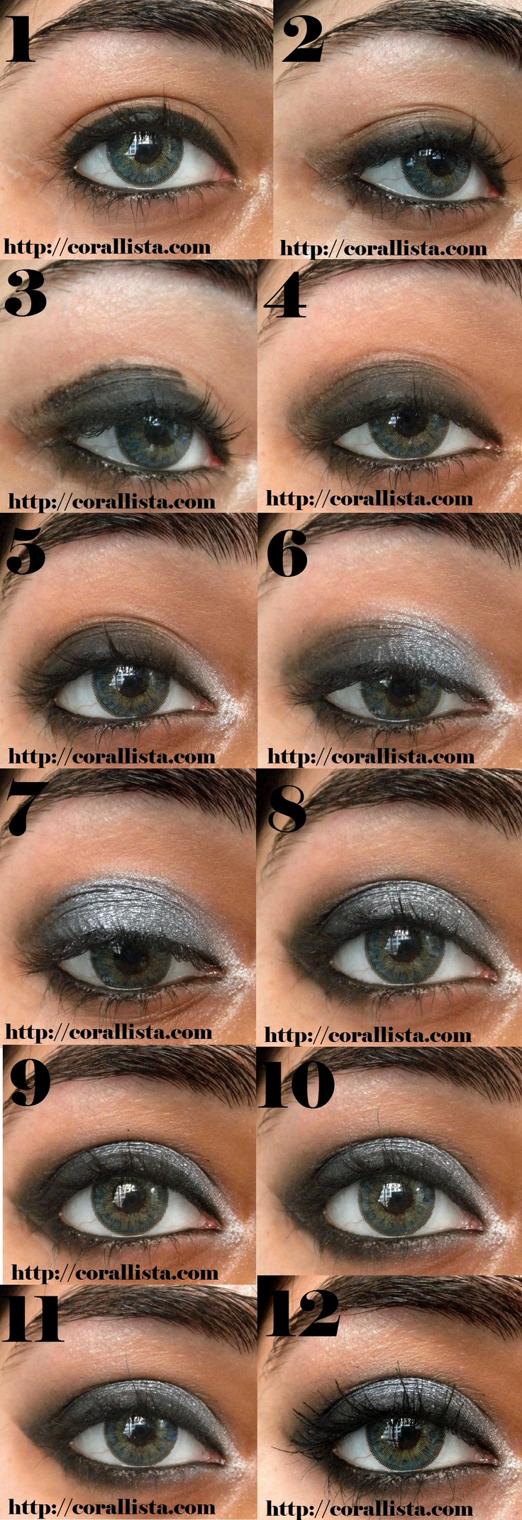 Kristen Stewart inspired Grey smokey eye