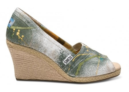 Hand-painted TOMS wedges