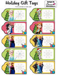 Frozen Christmas Tags Gift Tags