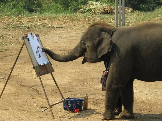 painting: Elephants, Baby Elephant, Animals, Elephant Paintings, Self Portraits, Painting Elephant, Things, Artist, Favorite