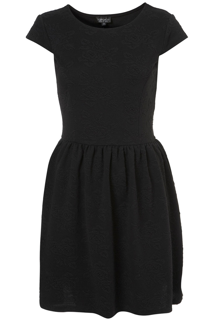Floral Jacquard Flippy Dress / Top Shop: Classic Black Dress, Jacquard Dress