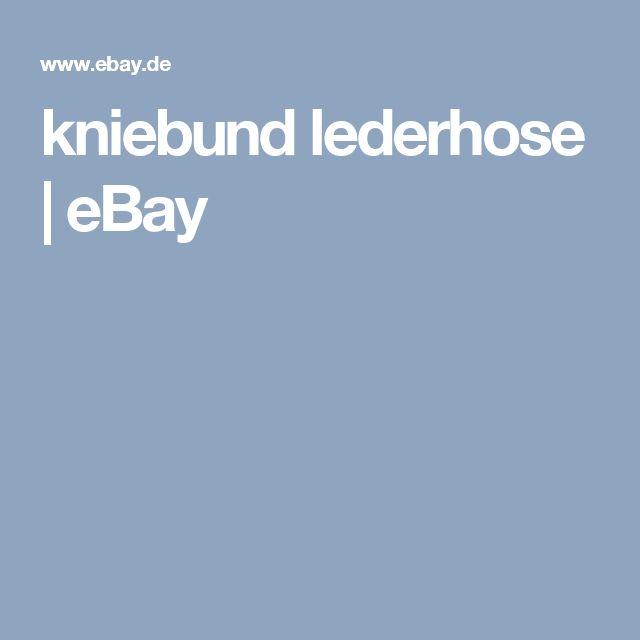 kniebund lederhose | eBay