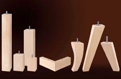 Patas de madera para diferentes muebles
