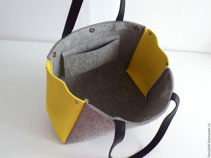 Как сшить сумку из фетра своими руками