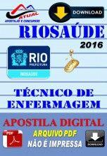 Apostila Digital Concurso Riosaude RJ Tecnico de Enfermagem 2016