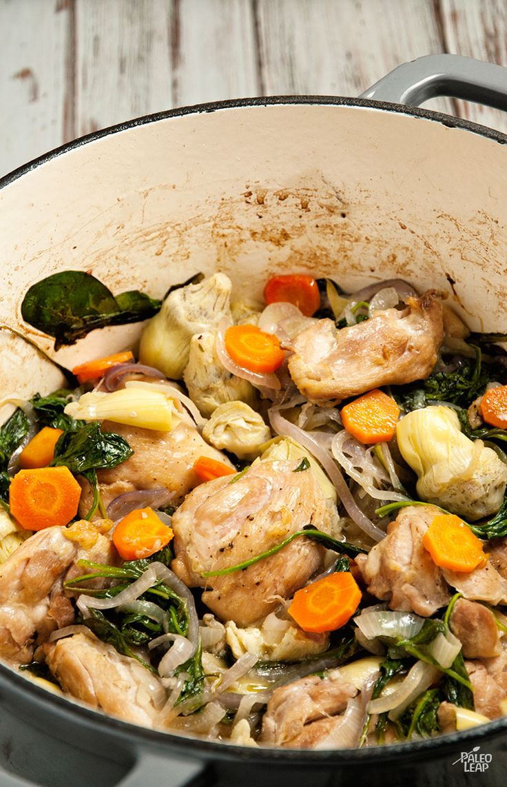 Paleo Chicken With Spinach And Artichokes