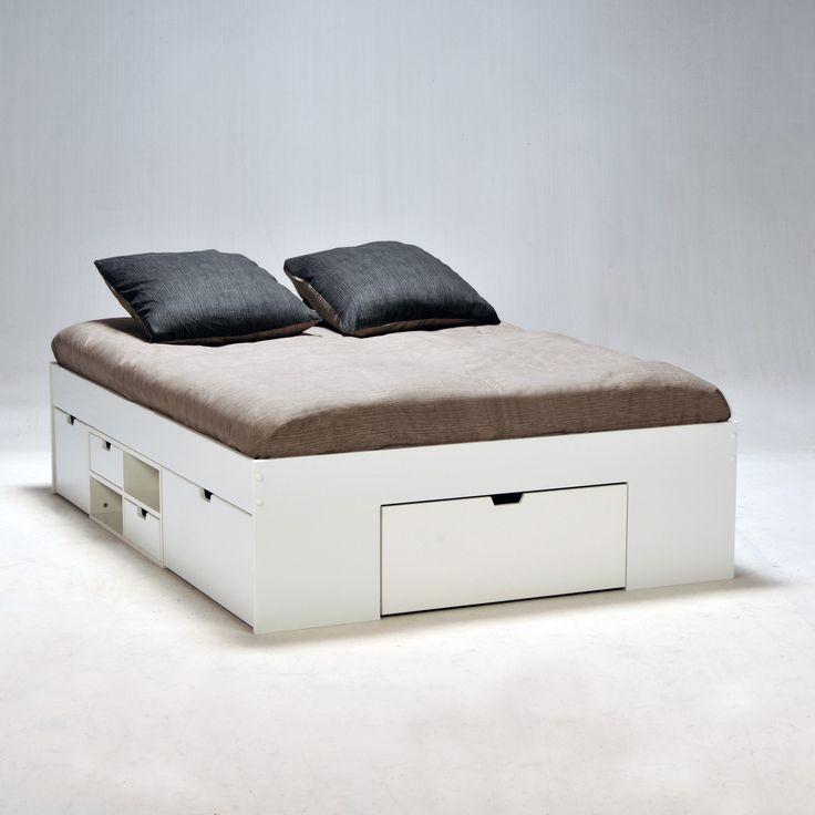 best 25 lit 140x190 avec rangement ideas on pinterest. Black Bedroom Furniture Sets. Home Design Ideas