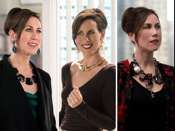 Important Statement Jewelry Update! Younger Star Miriam Shor Sounds Off on Diana Trout's Iconic Necklaces. You can check out all of Diana's necklaces on Younger at http://www.tvland.com/shows/younger.