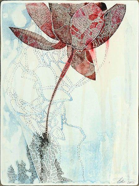 Belinda Fox, Title: Satellite Study, 2012. Medium: Watercolour, drawing on board. Size: 30.5 x 23cm