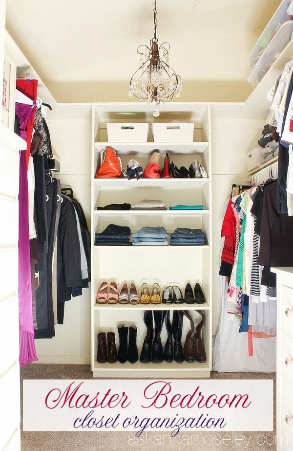 Master bedroom closet organization   Ask Anna. 292 best organizing    closets images on Pinterest