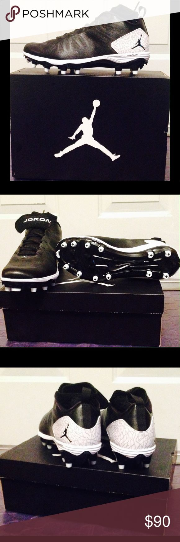 Nike Air Jordan Pro Dominate TD 2 Football Cleats Black Jordan football cleats. This item has never been worn. Brand new in its original box. Air Jordan Shoes Athletic Shoes