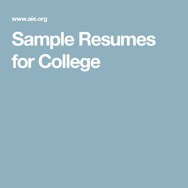 31 best Resumes images on Pinterest Gym, Resume tips and College - resume tips for highschool students