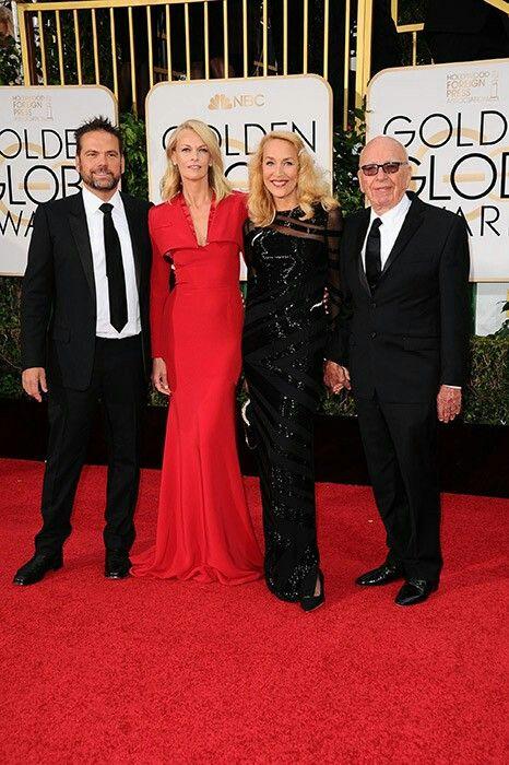 Sarah Murdoch y Jerry Hall Golden Globes 2017