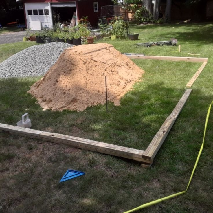 Ground leveling for above ground pool above ground pool