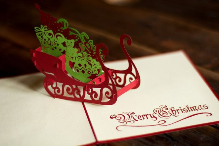 Santa's Sledge. That's the name of this amazing pop-up greeting card. Looks cool, doesn't it?