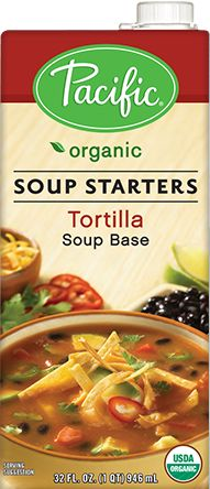 I normally start with chicken broth. Definitely will try this. For households with multiple allergies/sensitivities, I stick with the basics and have beans and guac in separate bowls. Corn tortilla can be used. Lundberg rice chips lightly warmed make a wonderful last minute topping.   Inspired by the classic Mexican soup, our tortilla soup starter is a tempting foundation for an authentic soup experience at home.