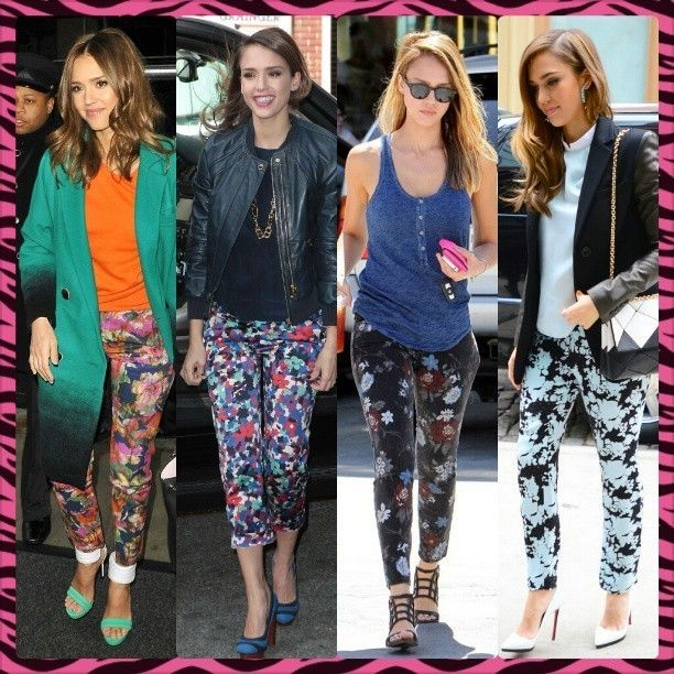 JESSICA ALBA FLORAL PRINT PANTS OBSESSION #jessicaalba #floral #jackets #hair #accessories #oversized #red #black #blue #orange #green #clutch #bags #shoes #heels #christianlouboutins #blonde #instablonde #love #instalove #awesome #fashion #floralprints #sunglasses #instafasion #style #instastyle #celebrity #streetfashion #streetstyle... - Celebrity Fashion