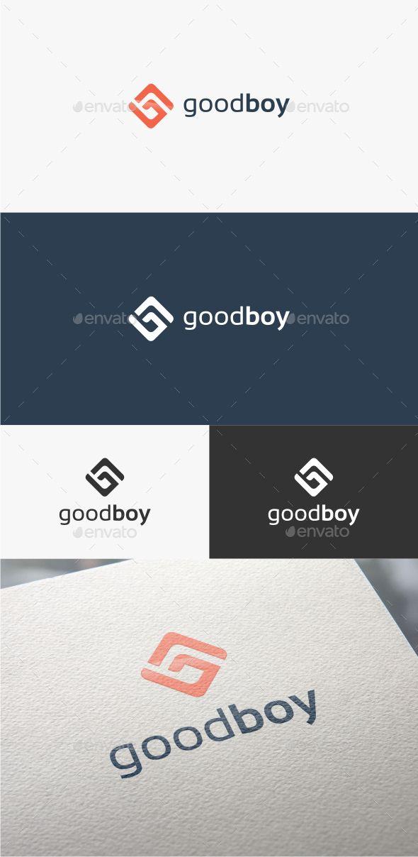 Good Boy Letter G - Logo Template (AI Illustrator, Resizable, CS, app, b, brand, g, g letter, g logo, game, gamer, Letter B, media, solutions, studio, web)