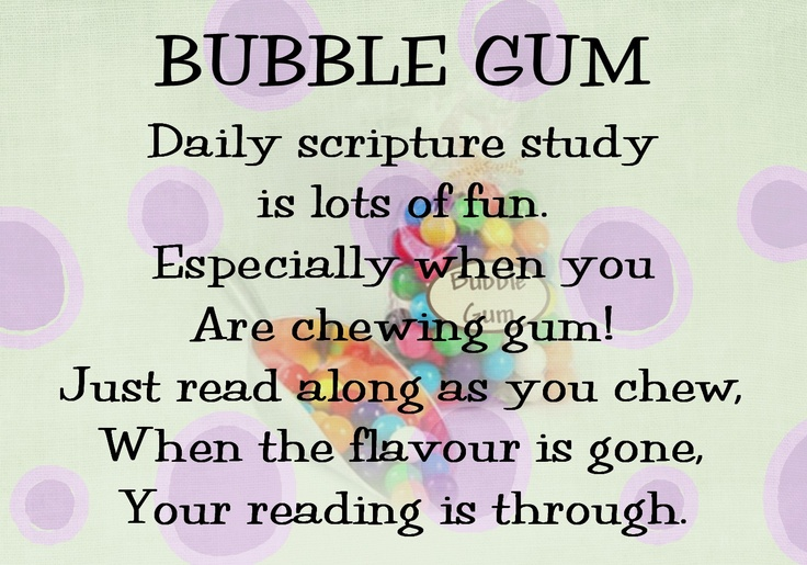 Bubble Gum | Cute sayings/handouts | Pinterest | Bubbles, Bubble Gum ...