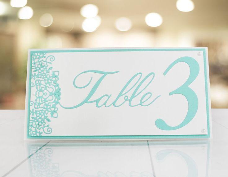 Wedding table settings made using the @tatteredlaceuk Elegant Lace Numbers Die! / homemade wedding / wedding planner / craft / handmade
