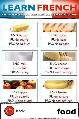 french vocab food with pronunciation - more on my website…