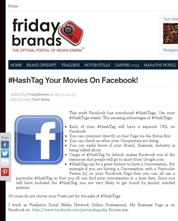 #HashTag Your Movies On Facebook! 2 http://www.fridaybrands.com/hashtag-your-movies-on-facebook/