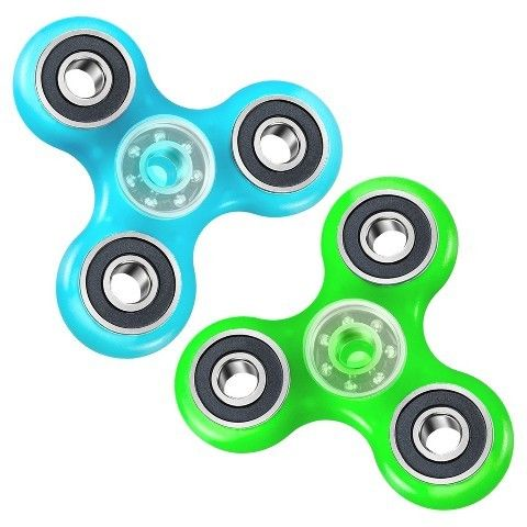 Excell Fidget Spinner Wild Glow in the Dark 2 Pack - Colors Will Vary
