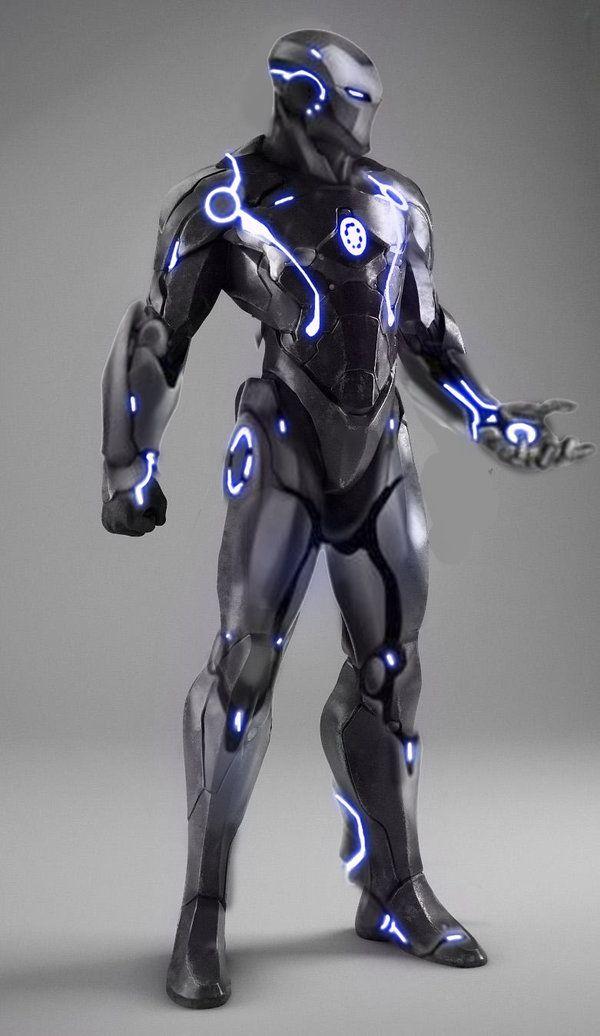 Stealth Iron Man concept by aztlann