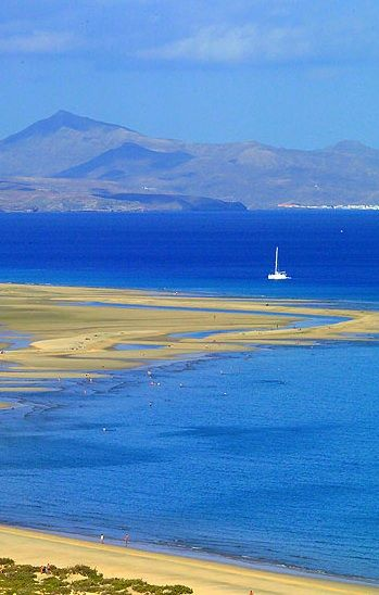Playa de Sotavento, #Fuerteventura, Canary Islands