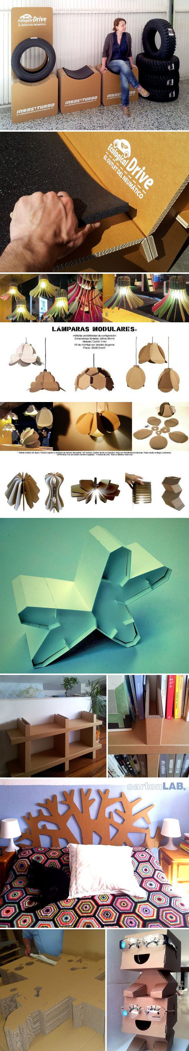 Cardboard Furniture, Cardboard Bench And Recycled Tires, Flatpacked  Cardboard Construction, Industrial Design,