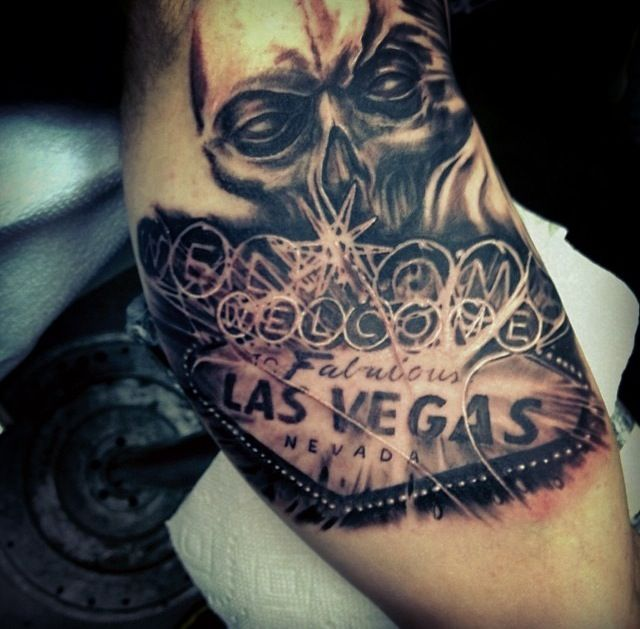 Welcome To Las Vegas Tattoo And Skull